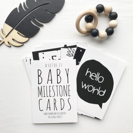 hand drawn baby milestone cards
