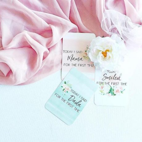 Belle and Grace Floral Baby Milestone Cards-1