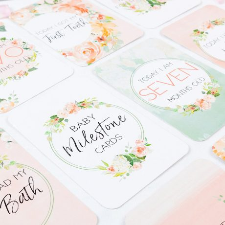 Belle and Grace Floral Baby Milestone Cards-2