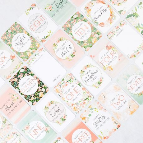 Belle and Grace Floral Baby Milestone Cards-3