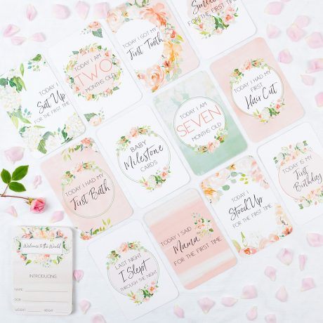Belle and Grace Floral Baby Milestone Cards-5