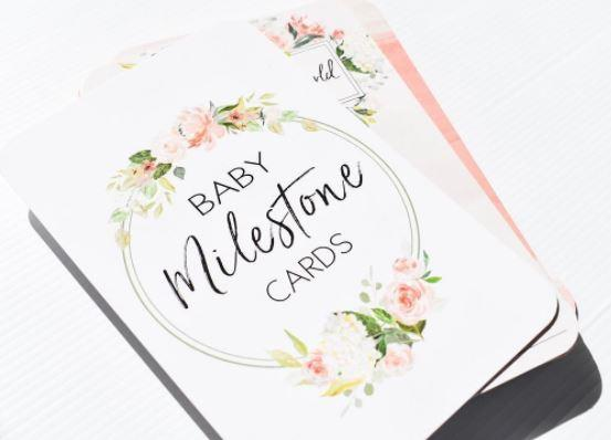 Belle and Grace Floral Baby Milestone Cards