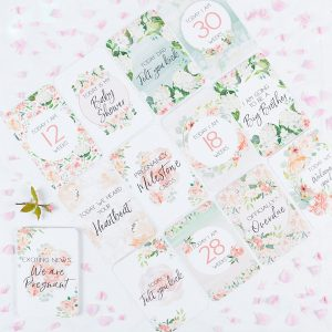 Belle and Grace Floral Pregnancy Milestone Cards