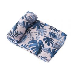 Tropical Pink Cotton Muslin Swaddle
