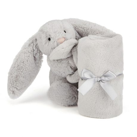 Jellycat Bashful Silver Bunny Soother-1