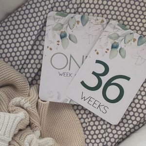 Belle and Grace Luxe Pregnancy Milestone Cards