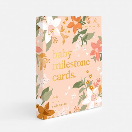Fox & Fallow Floral Baby Milestone Cards-1