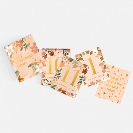 Fox & Fallow Floral Baby Milestone Cards-3