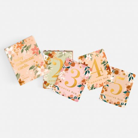 Fox & Fallow Floral Baby Milestone Cards-7