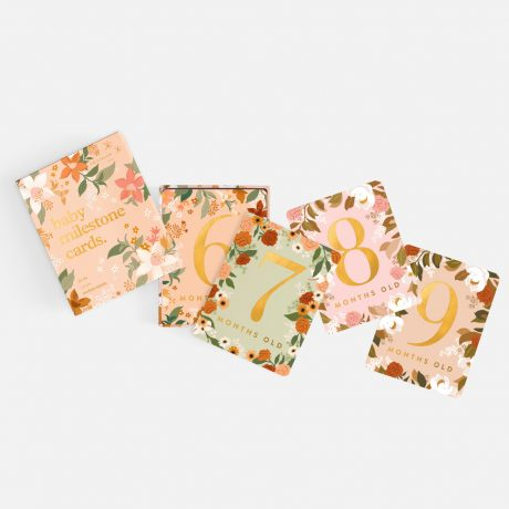 Fox & Fallow Floral Baby Milestone Cards-8