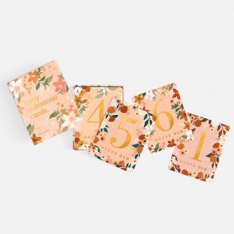 Fox & Fallow Floral Baby Milestone Cards-9