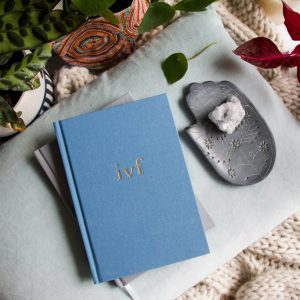 Write To Me IVF Journal - Blue